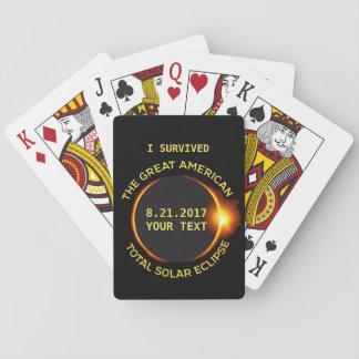 J'ai survécu à toute l'éclipse solaire 8.21.2017 cartes à jouer