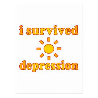 J'ai survécu au bonheur de santé mentale de carte postale