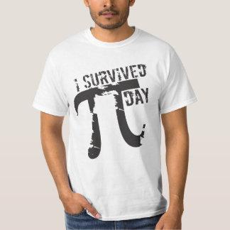 J'ai survécu au © de jour de pi - jour drôle de pi t-shirt