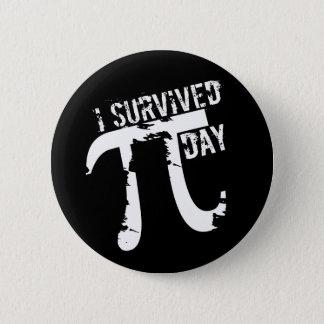J'ai survécu au jour de pi - symbole génial de pi badges