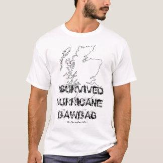 J'ai survécu au T-shirt de Bawbag d'ouragan
