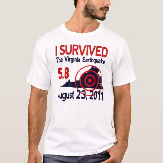 J'ai survécu au tremblement de terre de la t-shirt