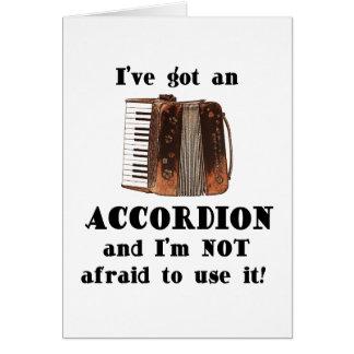 J'ai un accordéon carte de vœux