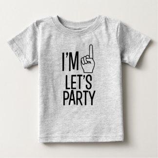 J'ai un ans nous ai laissés Party la chemise drôle T-shirt Pour Bébé