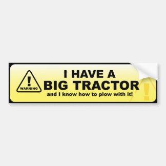 J'ai un grand tracteur autocollant de voiture