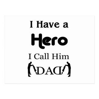 J'ai un héros que je l'appelle papa carte postale