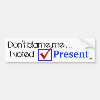 J'ai voté l'adhésif pour pare-chocs actuel autocollant pour voiture
