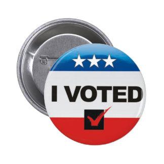J'ai voté le jour de l'élection 2016 simple, pin's