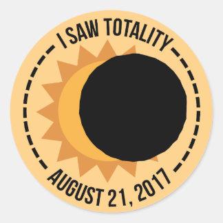 J'ai vu des autocollants de l'éclipse solaire 2017