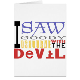 J'ai vu la sucrerie Osbourne avec le diable Cartes
