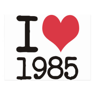 J'aime 1985 produits et conceptions de T-shirts ! Carte Postale