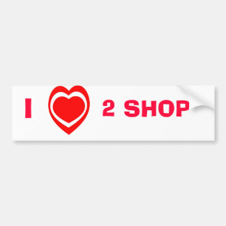 J'aime 2 le magasin, adhésif pour pare-chocs autocollant de voiture