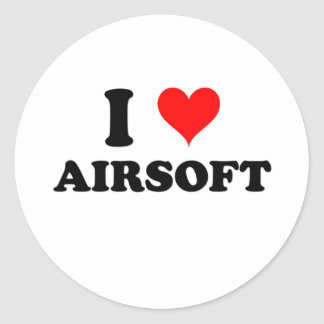 J'aime Airsoft Sticker Rond