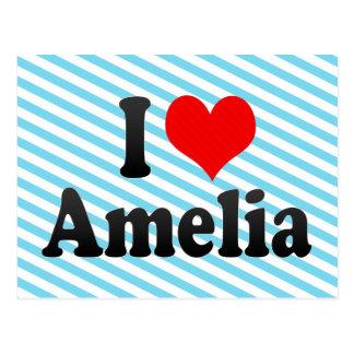 J'aime Amelia Carte Postale