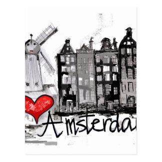 J'aime Amsterdam Cartes Postales