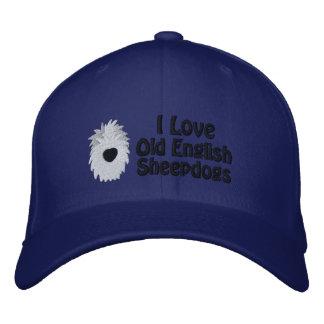 J'aime anglais le casquette brodé de vieux par