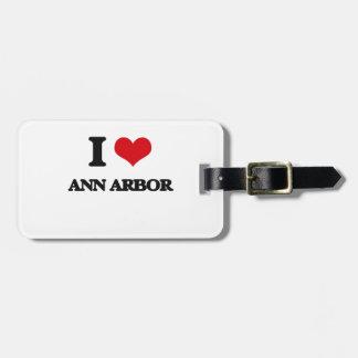 J'aime Ann Arbor Étiquettes Pour Bagage