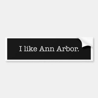 """""""J'aime Ann Arbor."""" Adhésif pour pare-chocs Autocollant Pour Voiture"""