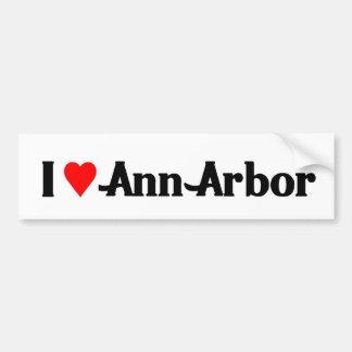 J'aime Ann Arbor Autocollant Pour Voiture