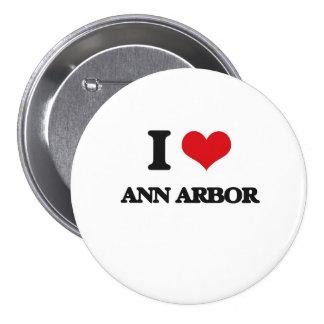 J'aime Ann Arbor Pin's