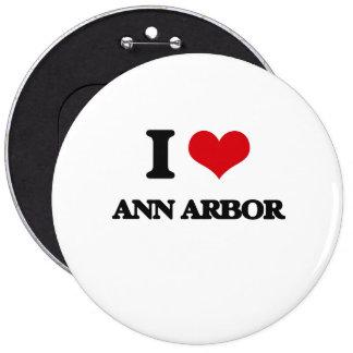 J'aime Ann Arbor Pin's Avec Agrafe