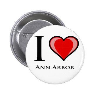 J'aime Ann Arbor Badges