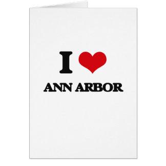 J'aime Ann Arbor Carte De Vœux