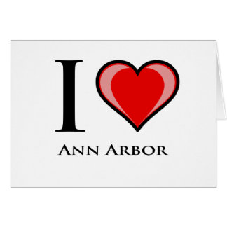 J'aime Ann Arbor Carte