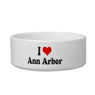J'aime Ann Arbor, Etats-Unis Bol Pour Chat