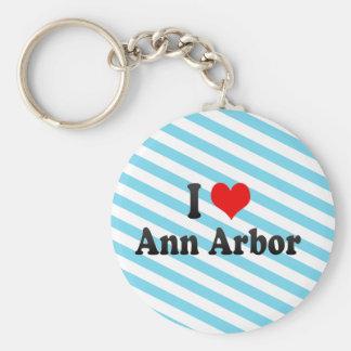 J'aime Ann Arbor, Etats-Unis Porte-clé Rond