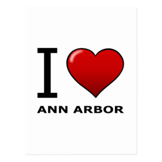 J'AIME ANN ARBOR, MI - MICHIGAN CARTE POSTALE