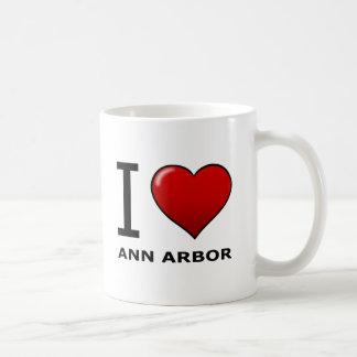 J'AIME ANN ARBOR, MI - MICHIGAN MUG BLANC
