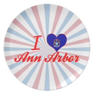 J'aime Ann Arbor, Michigan Assiettes