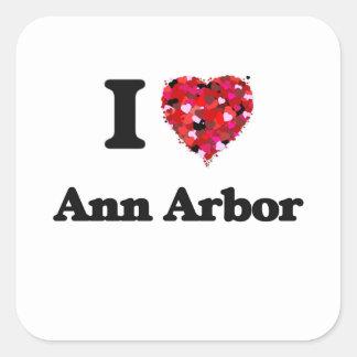 J'aime Ann Arbor Michigan Sticker Carré