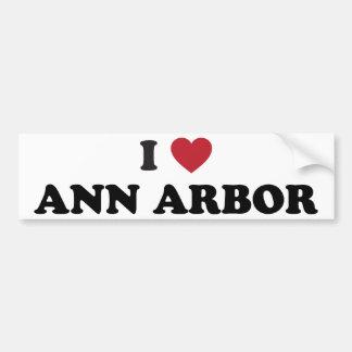 J'aime Ann Arbor Michigan Autocollant De Voiture