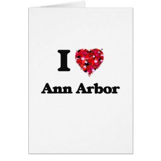 J'aime Ann Arbor Michigan Carte De Vœux