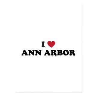 J'aime Ann Arbor Michigan Carte Postale