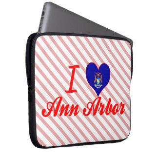 J'aime Ann Arbor, Michigan Housses Pour Ordinateur Portable
