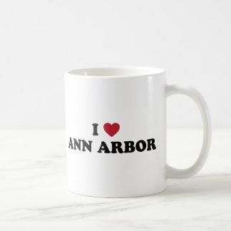 J'aime Ann Arbor Michigan Tasses À Café