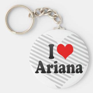 J'aime Ariana Porte-clé Rond