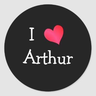 J'aime Arthur Sticker Rond