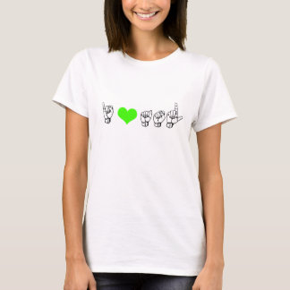 J'aime ASL (la langue des signes américaine) T-shirt