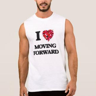 J'aime avancer tee-shirts sans manches