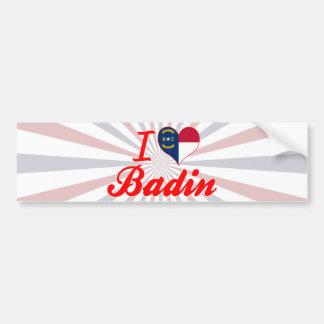 J'aime Badin, la Caroline du Nord Adhésifs Pour Voiture