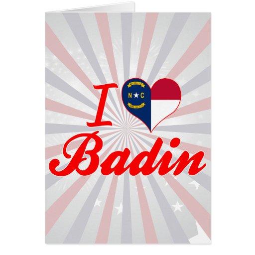 J'aime Badin, la Caroline du Nord Carte De Vœux