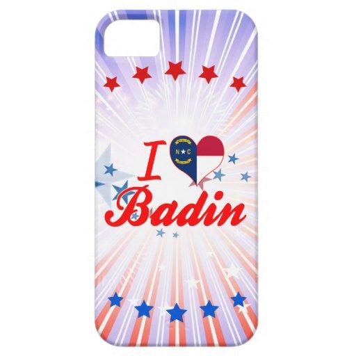 J'aime Badin, la Caroline du Nord iPhone 5 Case