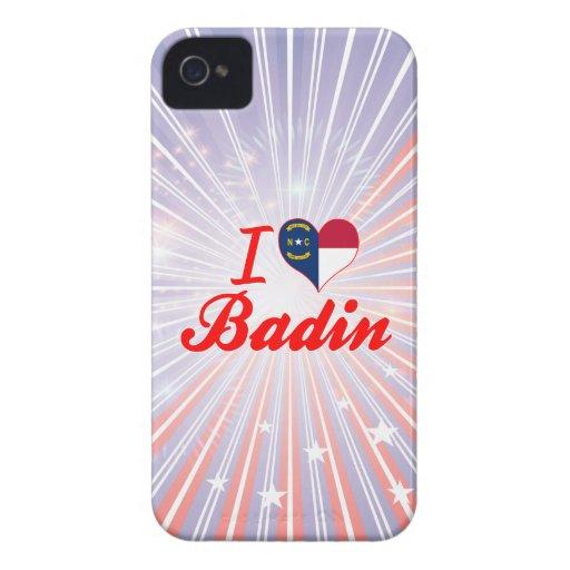 J'aime Badin, la Caroline du Nord Coque Case-Mate iPhone 4