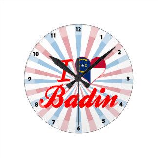 J'aime Badin, la Caroline du Nord Pendules