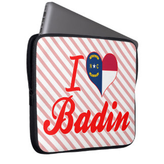 J'aime Badin, la Caroline du Nord Trousses Ordinateur