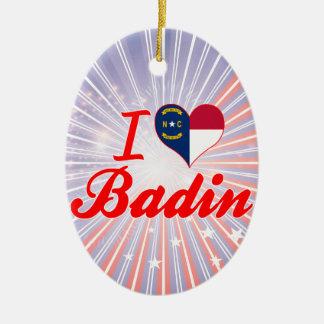 J'aime Badin, la Caroline du Nord Décoration Pour Sapin De Noël